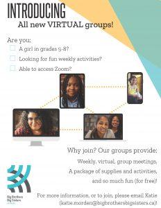Virtual Groups Poster (Big Brothers Big Sisters)